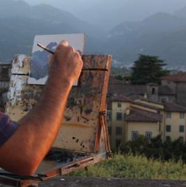 Estemporanea di pittura a Villa Borbone