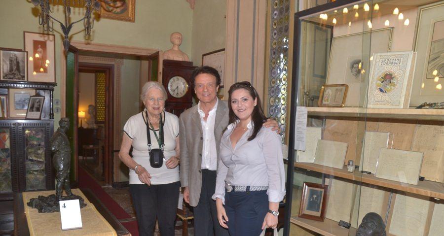 MASSIMO RANIERI IN VISITA AL MUSEO DEDICATO A GIACOMO PUCCINI