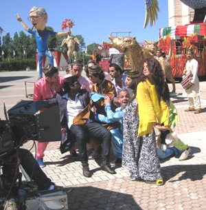 "VIAREGGIO CARNIVAL CITADEL BECOMES THE SET OF INDIAN FILM ""KANAMACHI"""