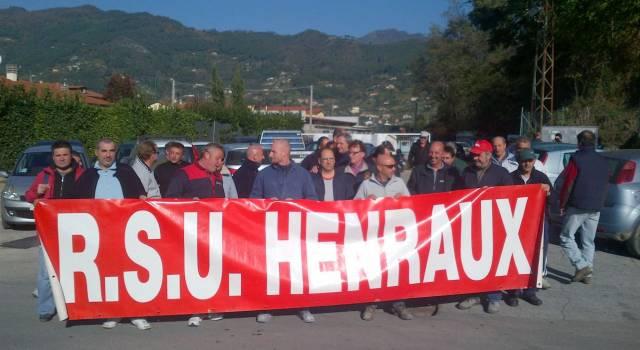 Scioperano i lavoratori dell'Henraux