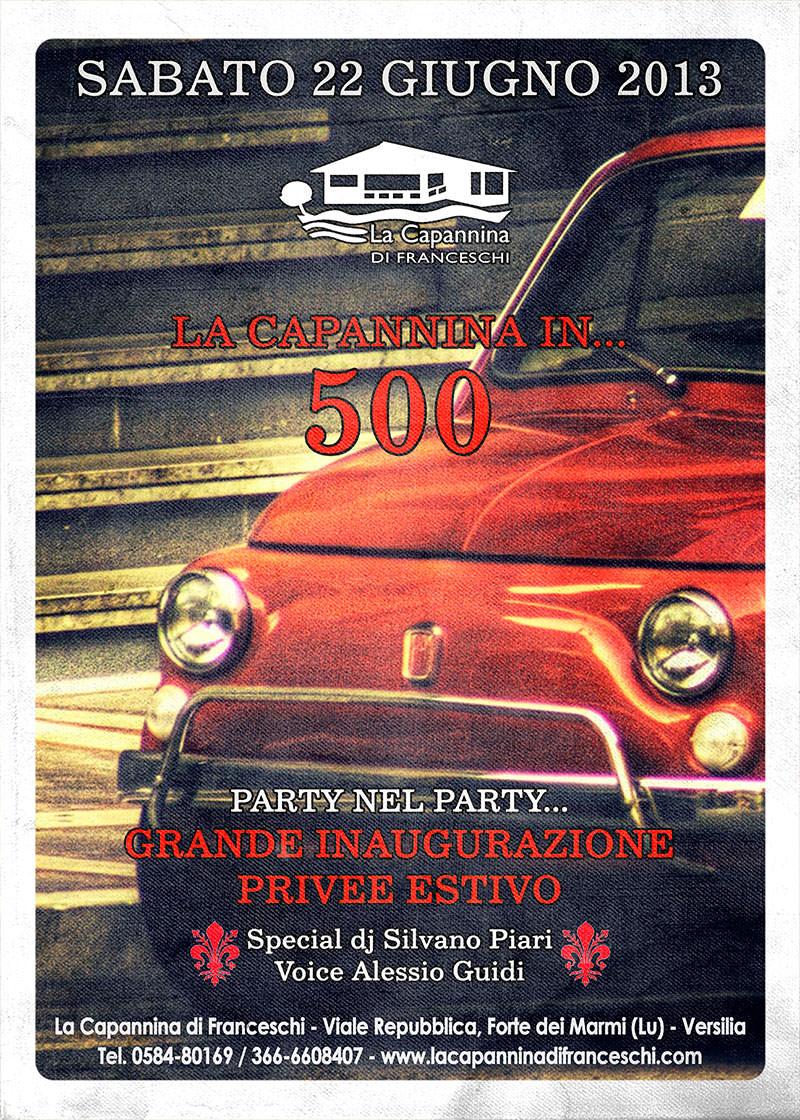 IL MITO DELLA FIAT 500 FA TAPPA ALLA CAPANNINA DI FRANCESCHI