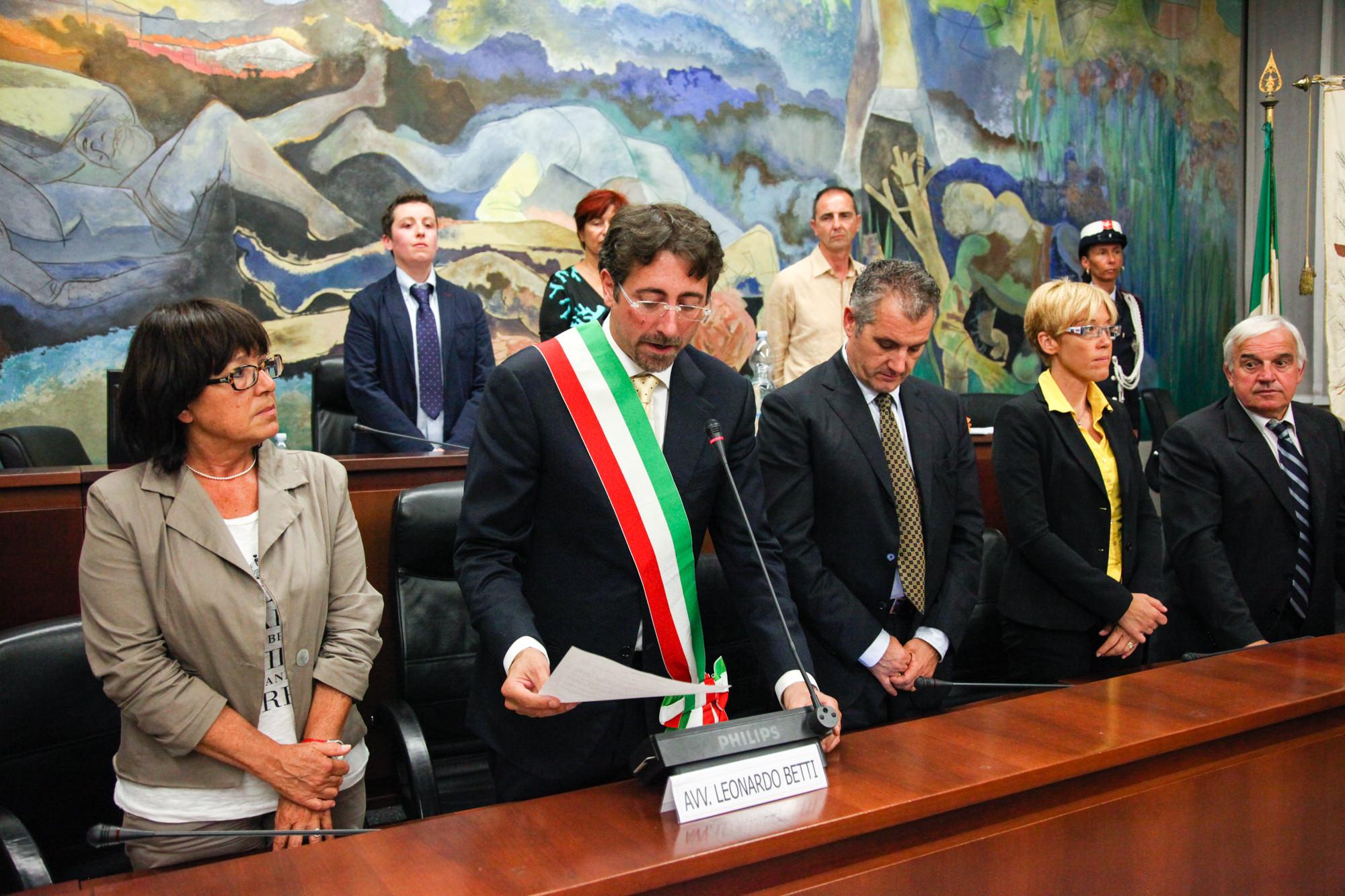 LA FOTOGALLERY DEL PRIMO CONSIGLIO COMUNALE DELL'AMMINISTRAZIONE BETTI