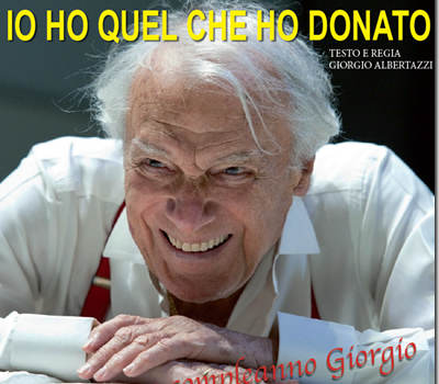 """Grande festa alla Versiliana per i 90 anni di Giorgio Albertazzi: """"Mi sento tutto, fuorché vecchio"""""""