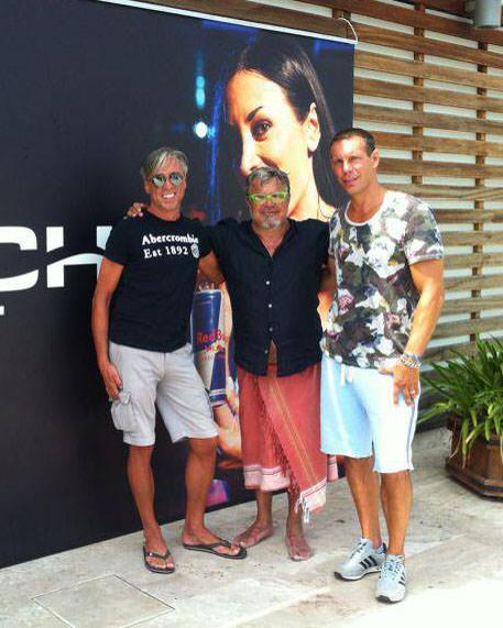 Ugo Conti al Beach Club. L'attore in tv con un programma di cucina