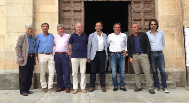 """Il senatore Nencini a Pietrasanta per la mostra 'Italia-Francia'. Lombardi: """"Incontro positivo"""""""
