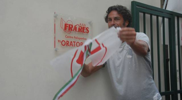 Fabio Galante per il taglio del nastro del centro polisportivo a Stiava (le foto)