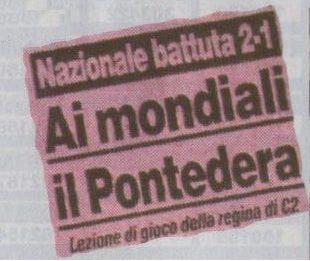 Il Viareggio sfida il Pontedera, la squadra che sconfisse l'Italia di Sacchi prima di USA 94