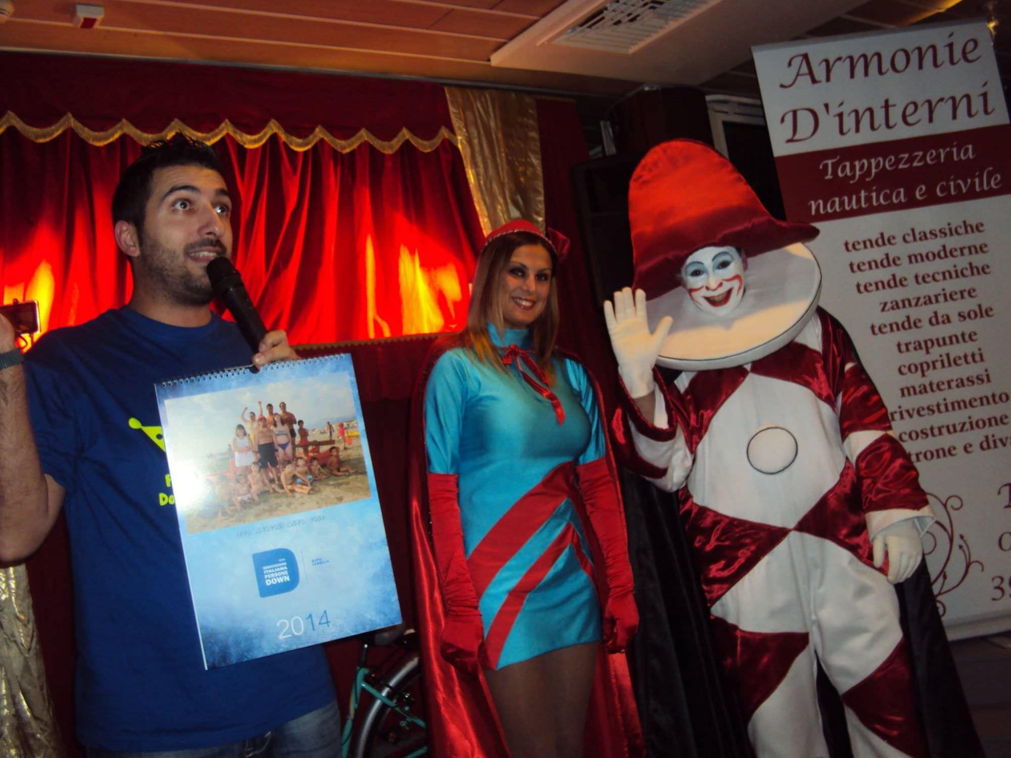 Grande festa al Balena per la presentazione del calendario 2014 di Aipd