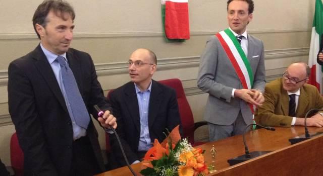 """Enrico Letta a Camaiore. """"Dalla crisi si esce solo con l'esempio di Pierino Graziani: sobrietà, semplicità, concretezza"""""""