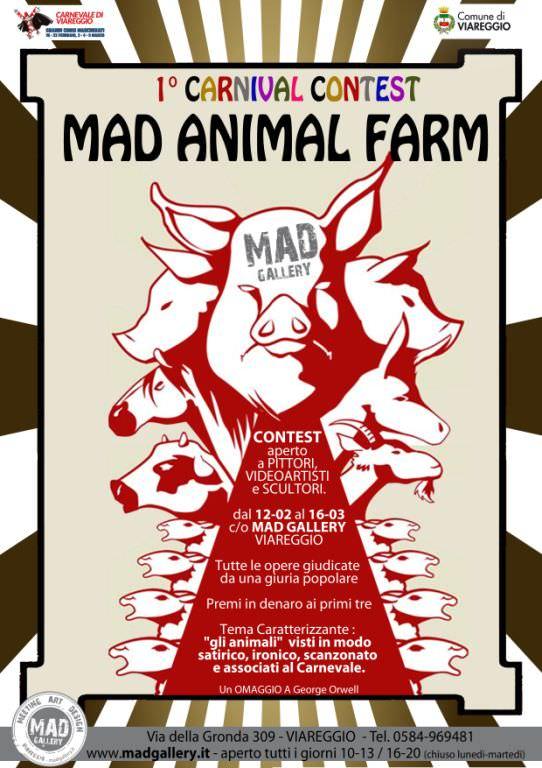 """""""Mad Animal Farm"""", il contest fotografico di Carnevale ispirato a George Orwell"""