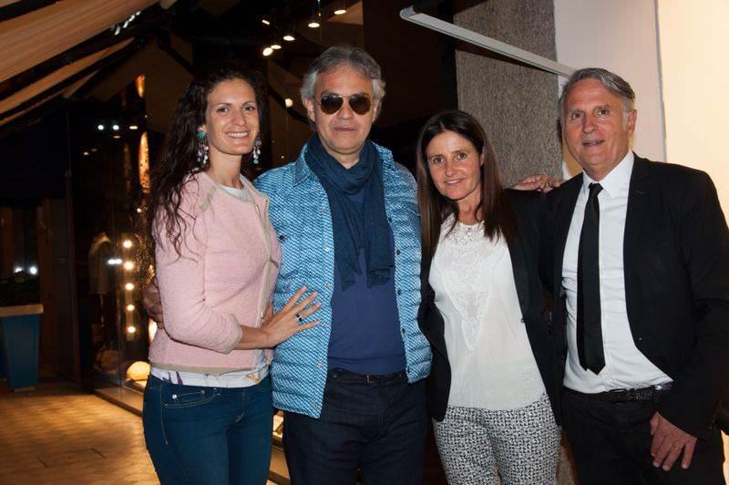 Andrea Bocelli e Pierluigi Collina ospiti all'opening della nuova boutique di Massimo Rebecchi