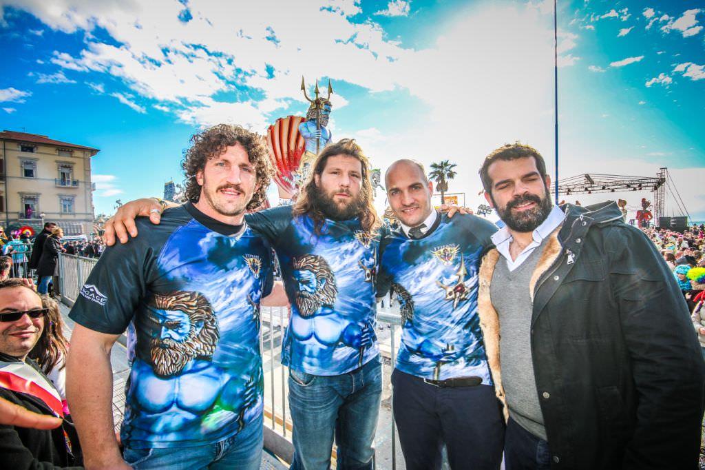 """Le stelle del rugby a Viareggio: """"Vogliamo fare un carro sul valore educativo dello sport"""""""