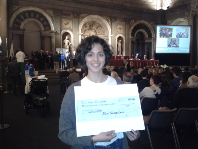 Cgc, Elisa Spazzafumo premiata a Firenze