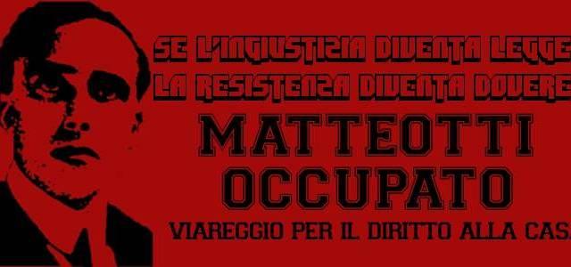 """Nasce il """"Matteotti Occupato"""": """"Stanchi di un sindaco che prometteva il blocco degli sfratti"""""""