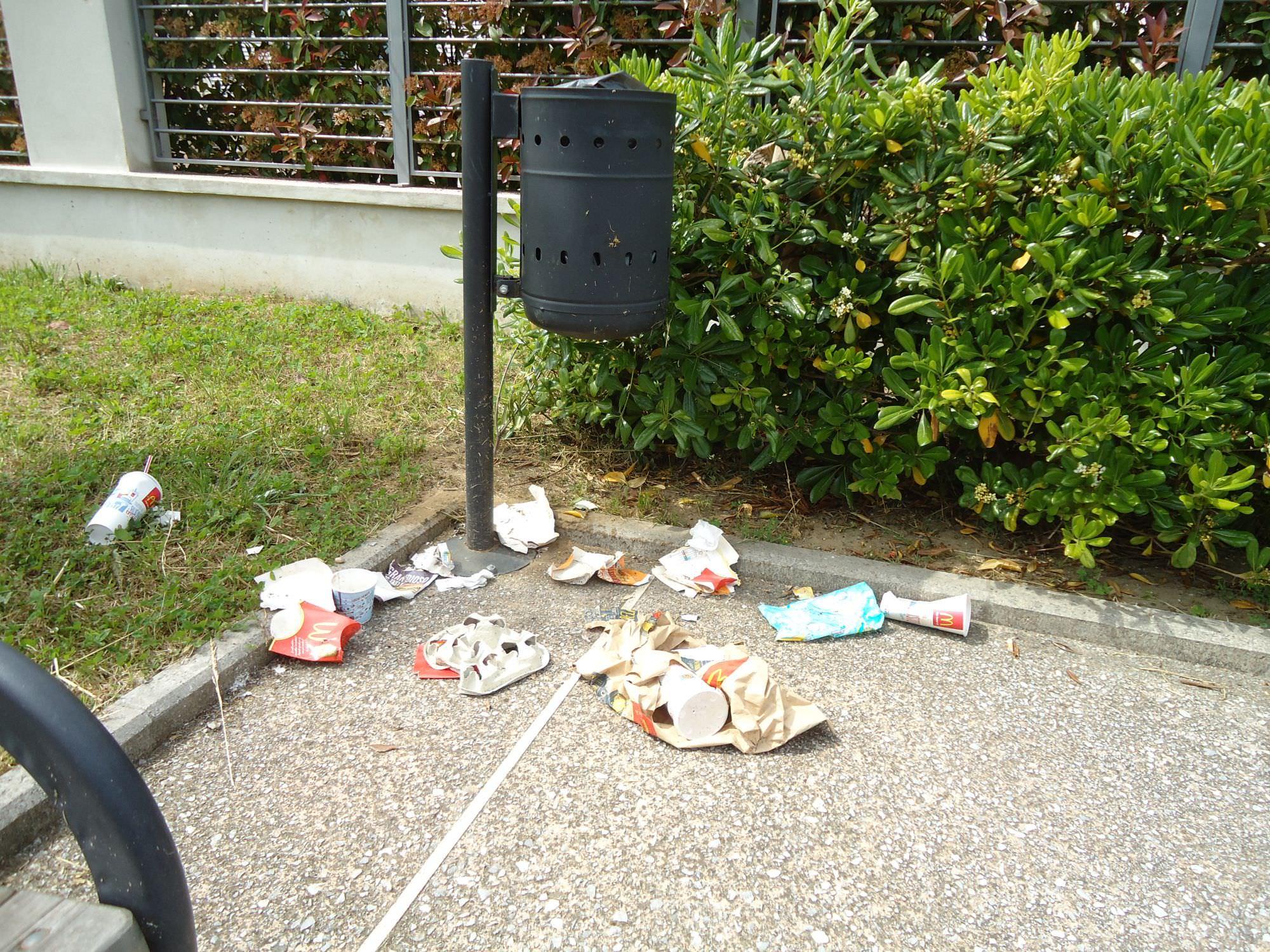 Sommersi dai rifiuti. Proteste dei cittadini che vivono vicino al McDonald's di Lido