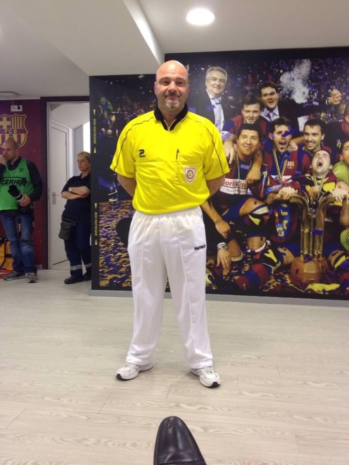 Il viareggino Ferrari arbitro della finale di Eurolega vinta dal Barcellona