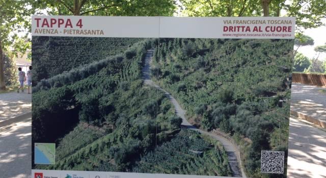 Inaugurato il tracciato toscano della Via Francigena. Gli interventi a Pietrasanta