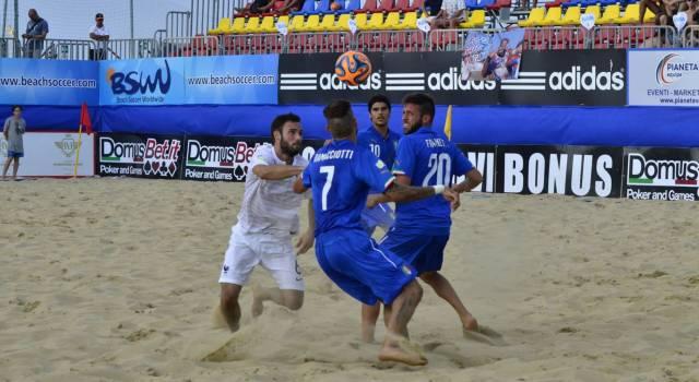 Cinque viareggini con la Nazionale di beach soccer a Lignano Sabbiadoro