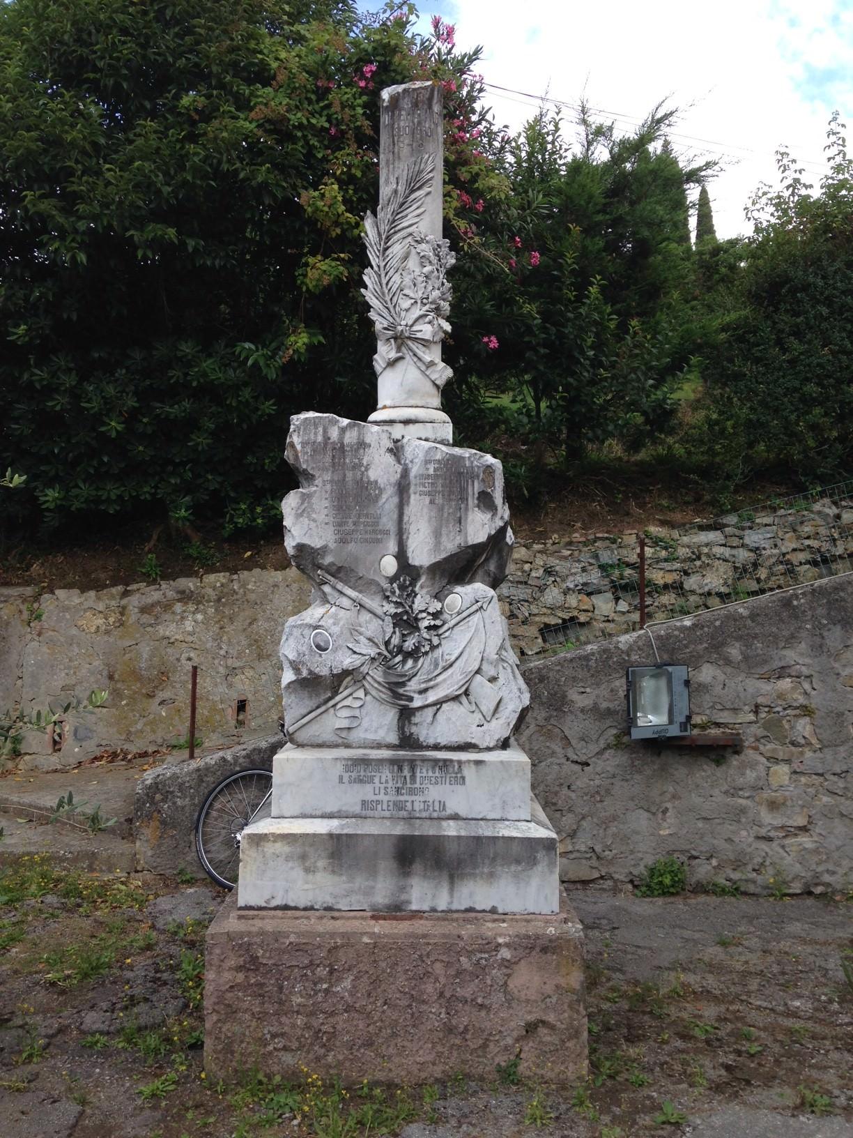 """Cippo marmoreo della Prima Guerra Mondiale in malora: """"intervenite per restaurarlo"""""""