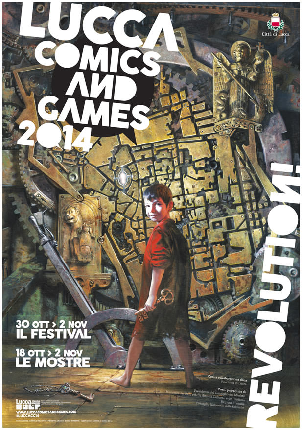 """Presentata l'edizione 2014 di Lucca Comics & Games, il tema è """"Revolution!"""""""