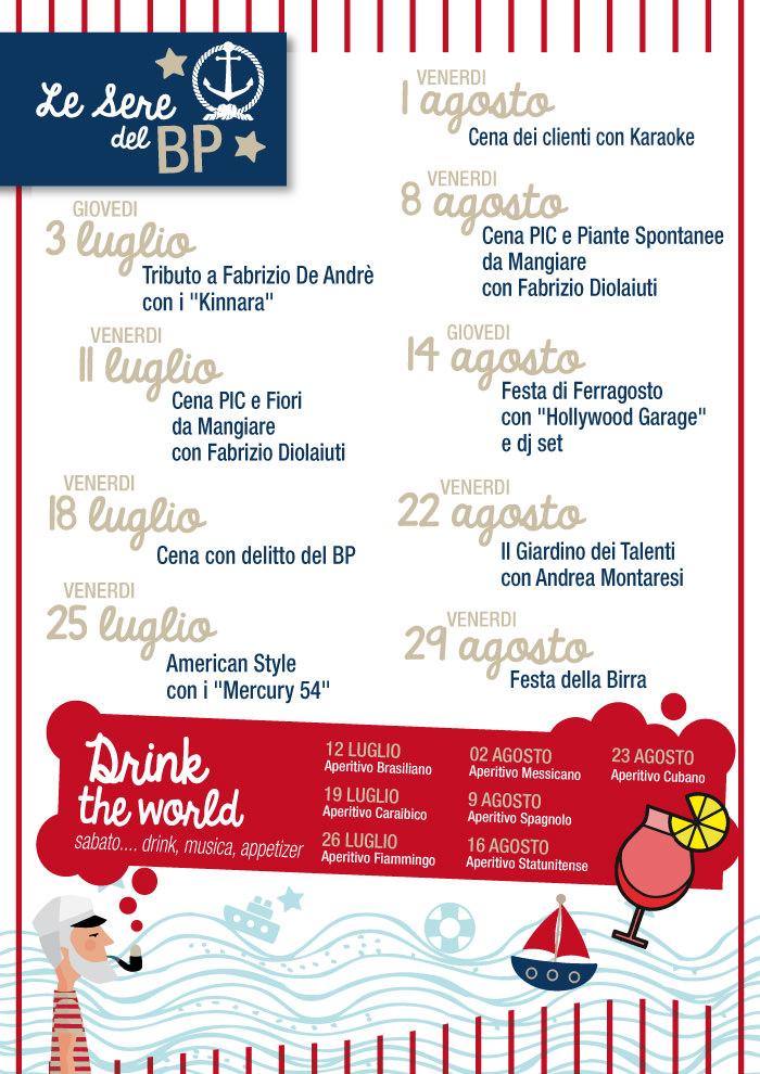 Il programma degli eventi estivi al Bagno Pietrasanta
