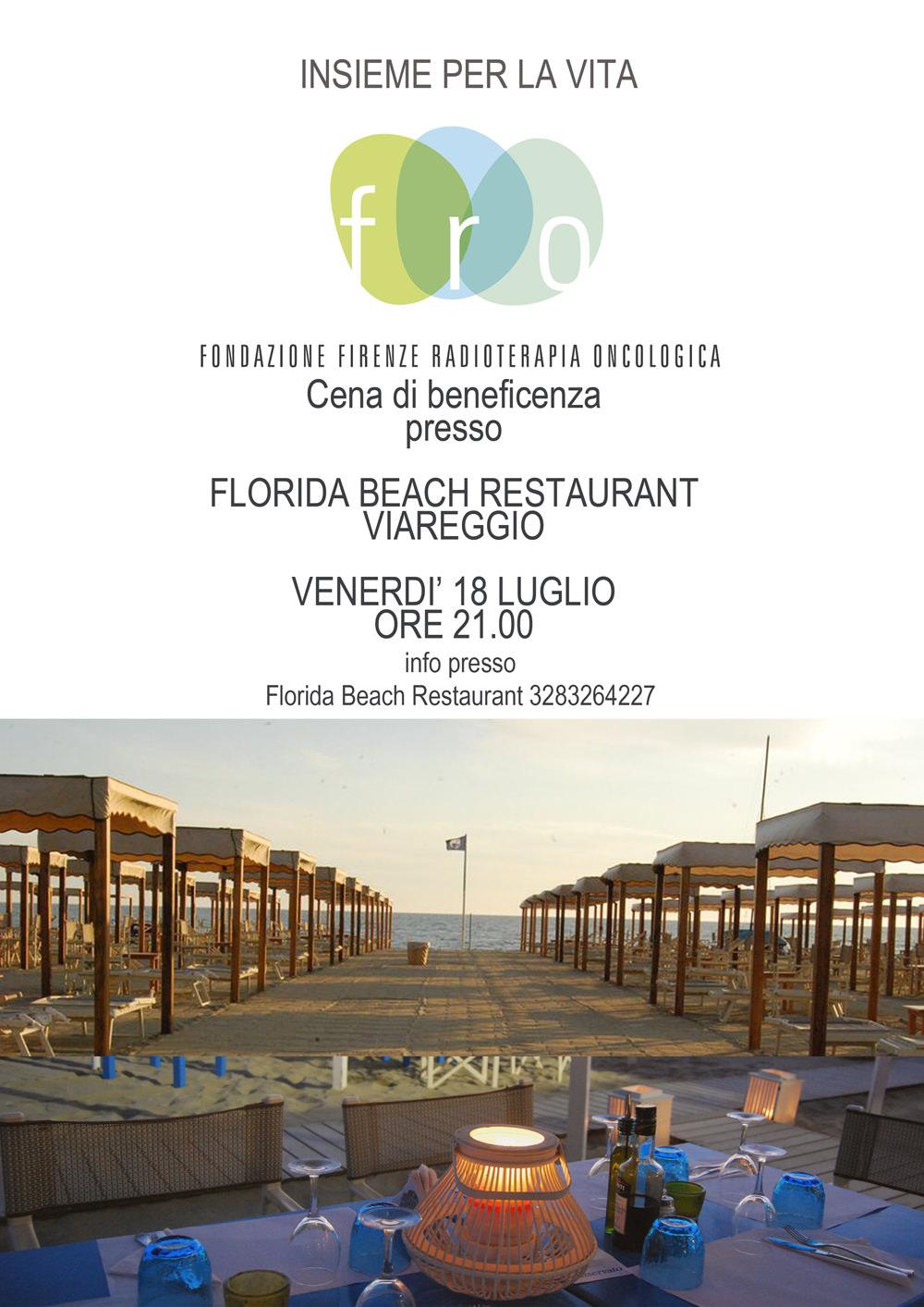 Cena di beneficenza al florida beach a favore della fro - Radioterapia a bagno ...