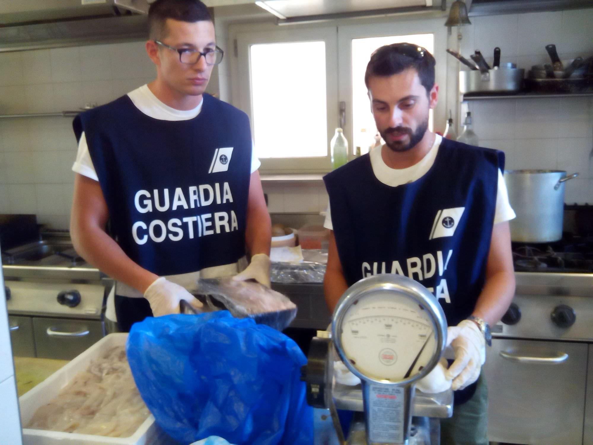 Ristorante di Camaiore multato e 65 kg di pesce congelato sequestrati