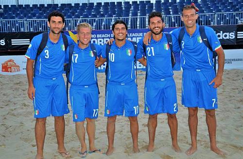 Cinque azzurri per la qualificazione ai Mondiali di beach soccer