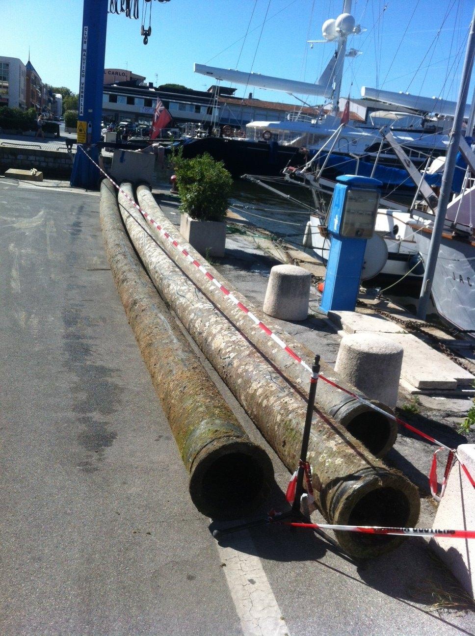 Tubi in porto, ripristinata la sicurezza della navigazione dalla Capitaneria