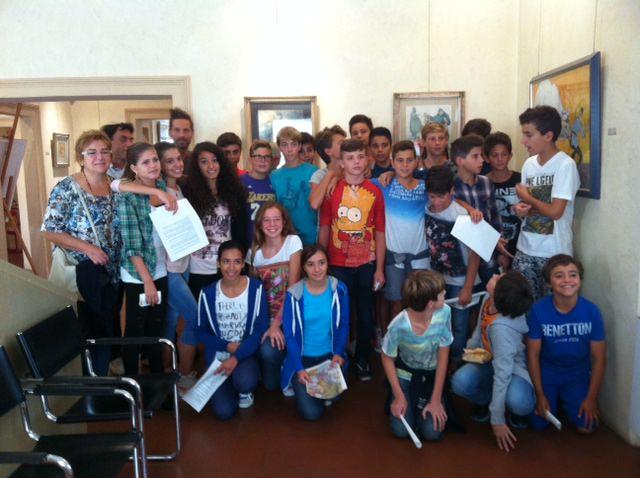 """Gli alunni della Ugo Guidi visitano la mostra """"La Danza macabra della Grande Guerra"""""""