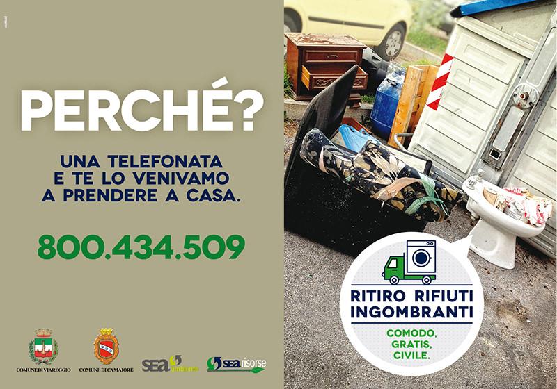 Videosorveglianza contro l'abbandono di rifiuti ingombranti a Viareggio