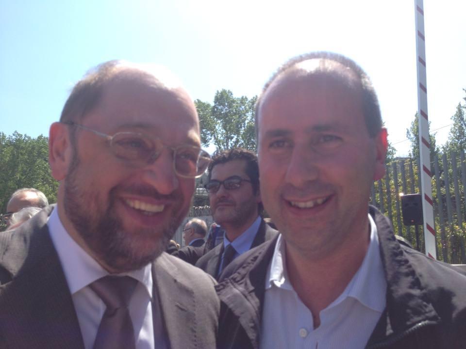 Il sindaco di Stazzema ricevuto dal presidente del Parlamento Europeo Martin Schulz
