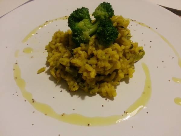 risotto broccoli e zafferano