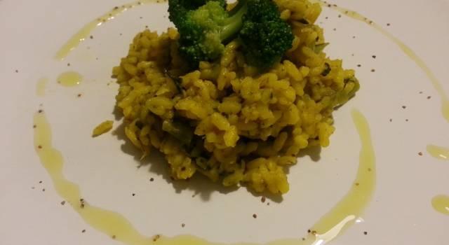 Risotto zafferano e broccoli