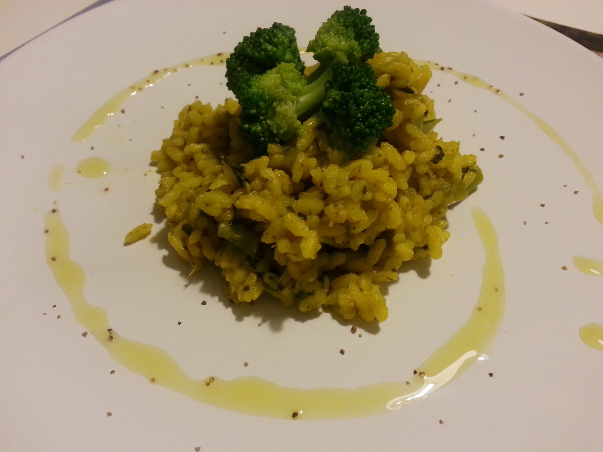 Risotto zafferano e broccoli