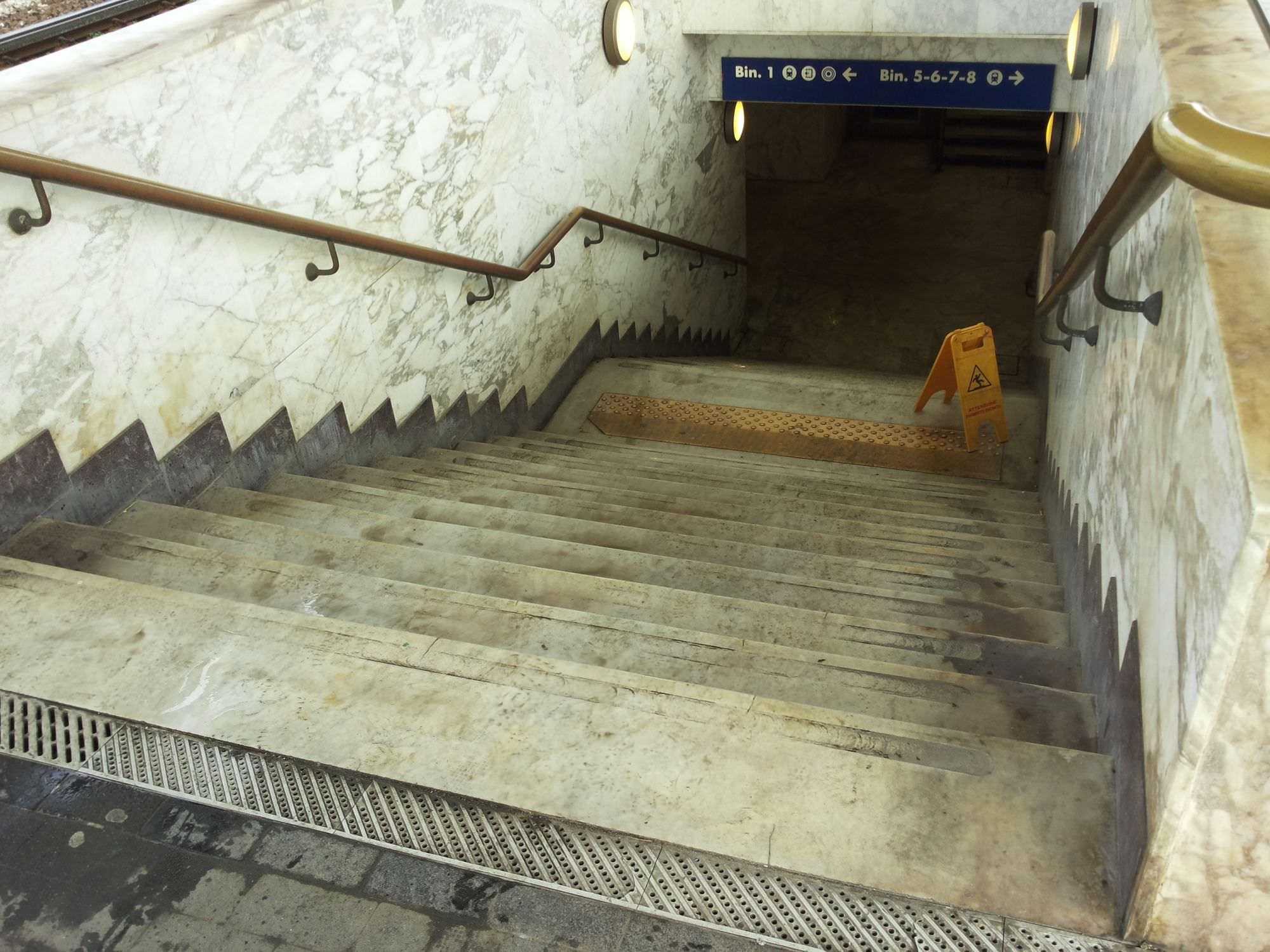 La stazione ferroviaria di Viareggio abbandonata all'incuria (foto)