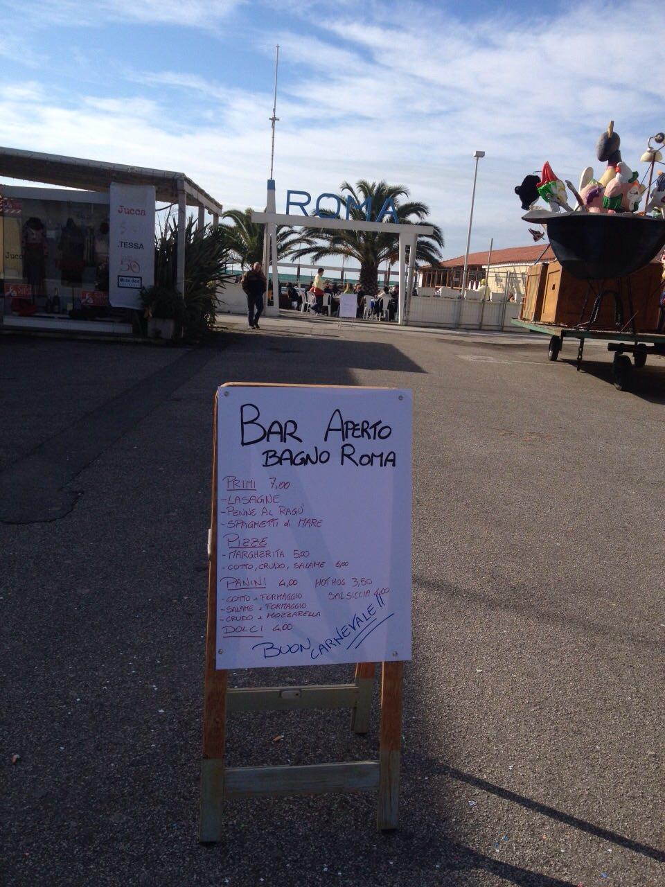 Bar degli stabilimenti balneari aperti per le domeniche di Carnevale