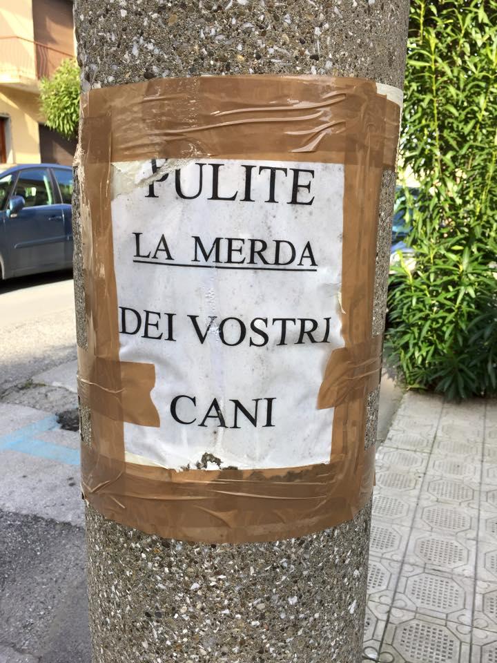 """""""Pulite la m…. dei vostri cani"""". Sotto accusa i padroni incivili"""