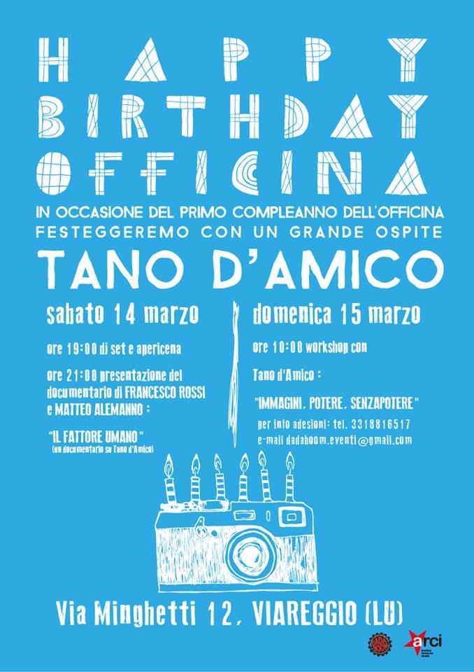 Tano D'Amico guest star del primo compleanno dell'Officina di arte fotografica e contemporanea Dada Boom