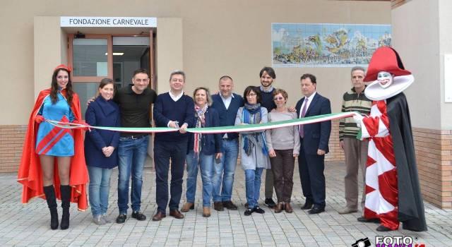 Taglio del nastro per la nuova sede della Fondazione Carnevale alla Cittadella (foto)