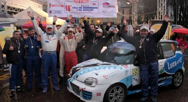 Rally, due equipaggi versiliesi trionfano in Piemonte