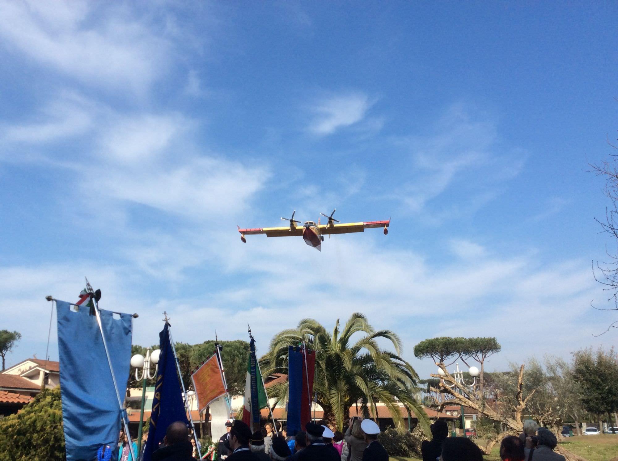 Il Capo della Protezione Civile Franco Gabrielli alla commemorazione dei piloti Bandini e Rossetti