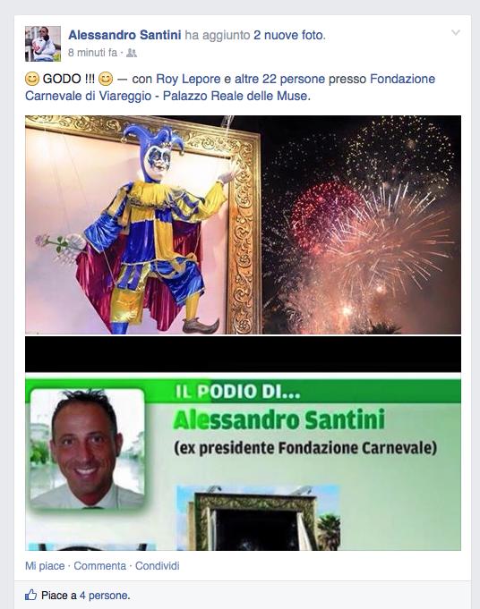 """""""Godo"""". L'ex Presidente Santini svela in anteprima il nome del vincitore del Carnevale"""