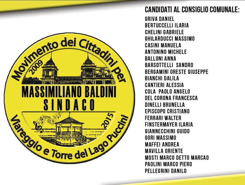 Elezioni amministrative 2015 a Viareggio, i candidati del Movimento dei Cittadini