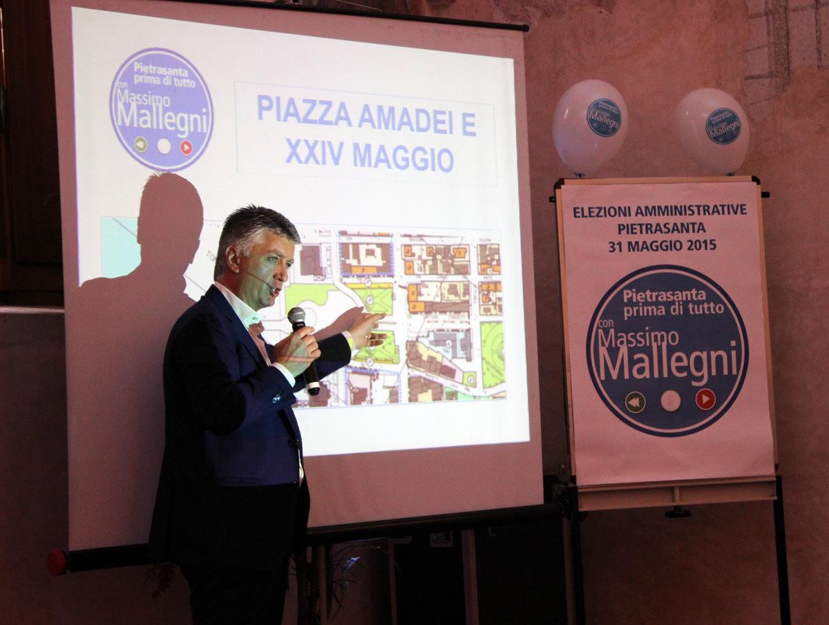 Elezioni Pietrasanta. Dal Museo Mitoraj ai parcheggi al Prado, i progetti di Massimo Mallegni