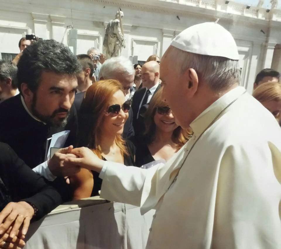 Incontro con Papa Francesco per Don Damiano Pacini e l'associazione Cristian Larini onlus