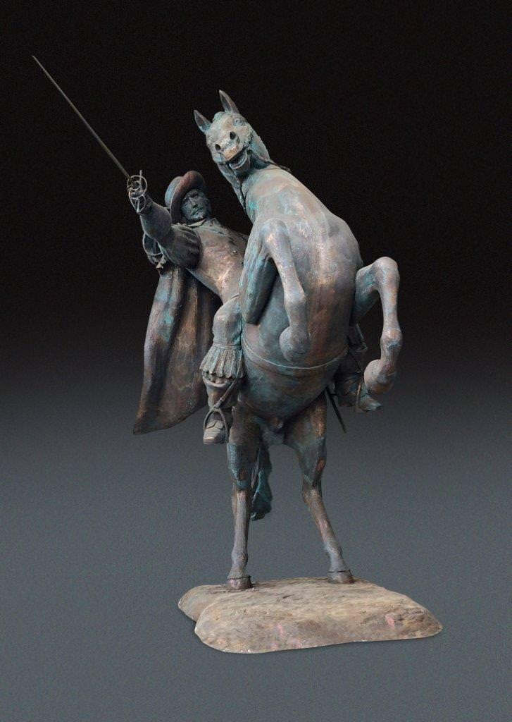 """In piazza Giordano Bruno il """"D'Artagnan a cavallo"""" di Daphne du Barry"""