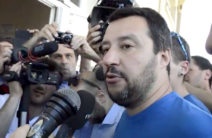 Matteo Salvini a Pietrasanta per sostenere Mallegni