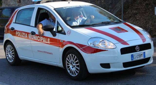 Sicurezza:  a Pietrasanta 126 multe in quattro mesi, Municipale deve fare appostamenti per notificarle