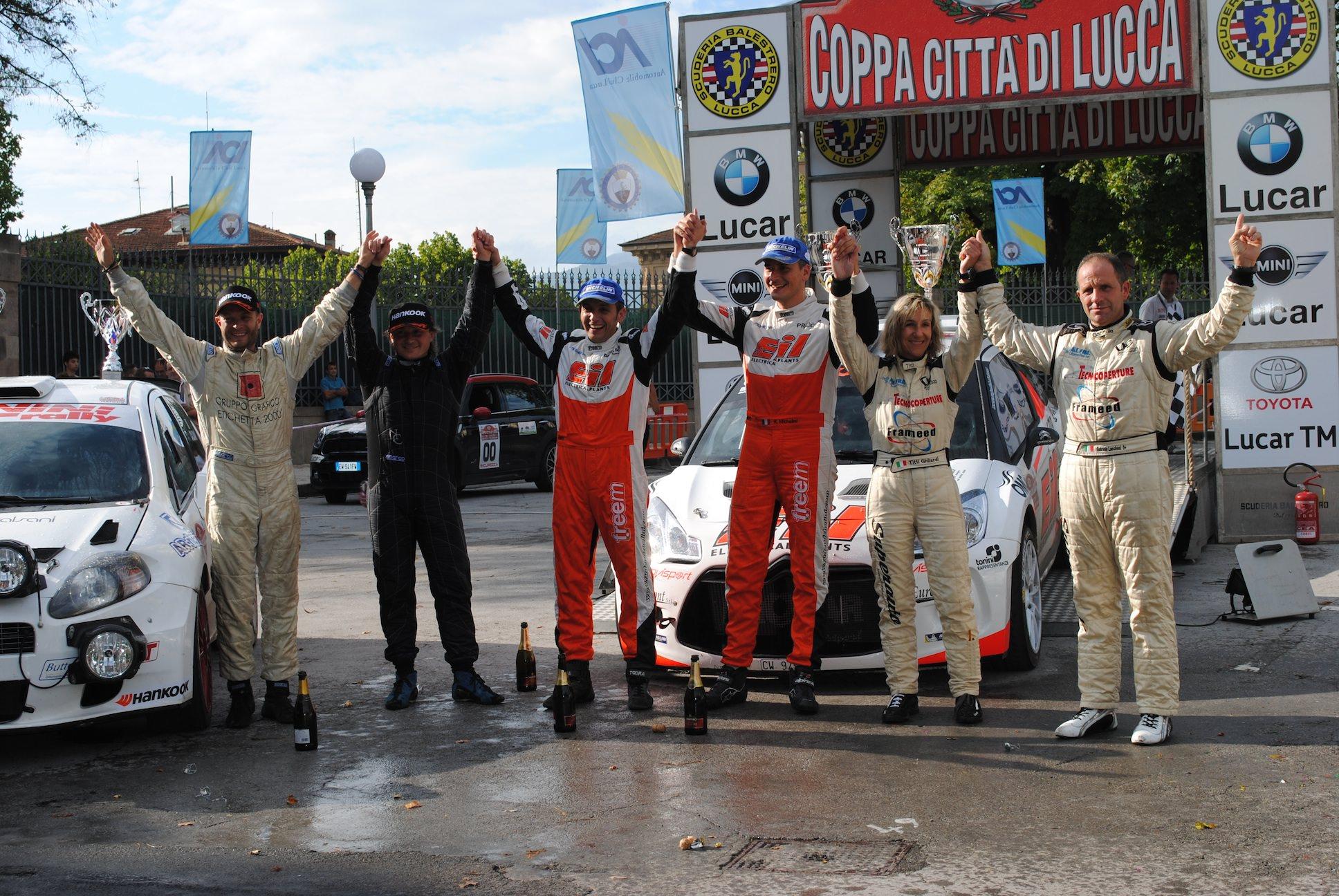 Il Rally Coppa Città di Lucca spegne le 50 candeline